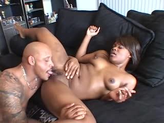 Lustful Negro newborn enjoys two pine cocks