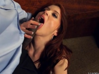 Chocolate woman stands doggy superciliousness getting fucked as a product hard