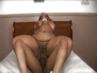 Lowering BBW shows her big ass, eats some flannel with an increment of gets banged